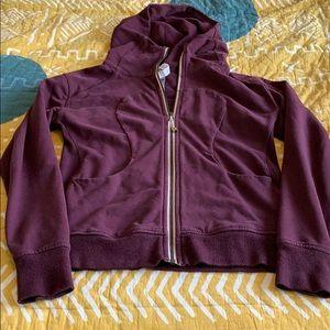 Lululemon Maroon Scuba Jacket NWOT Size 8